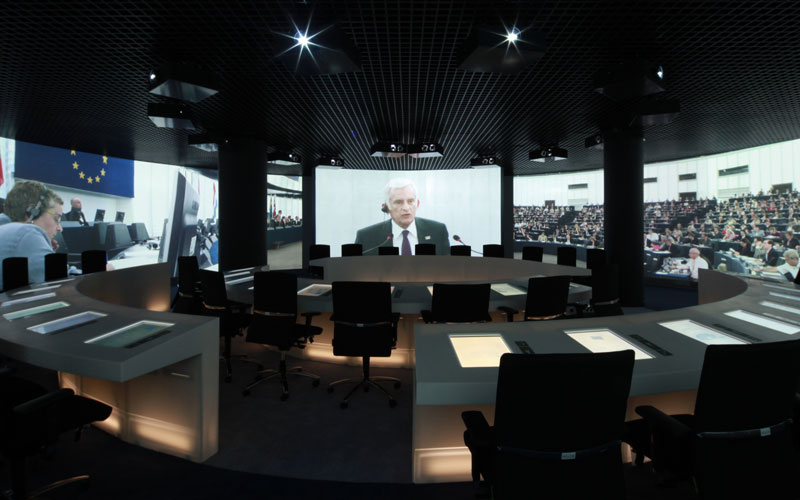 360 ° Room Impression EU Parlamentarium