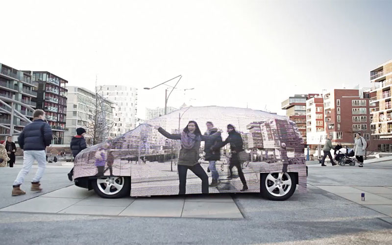User Interaction Visual Impression - Invisible Car Promotion